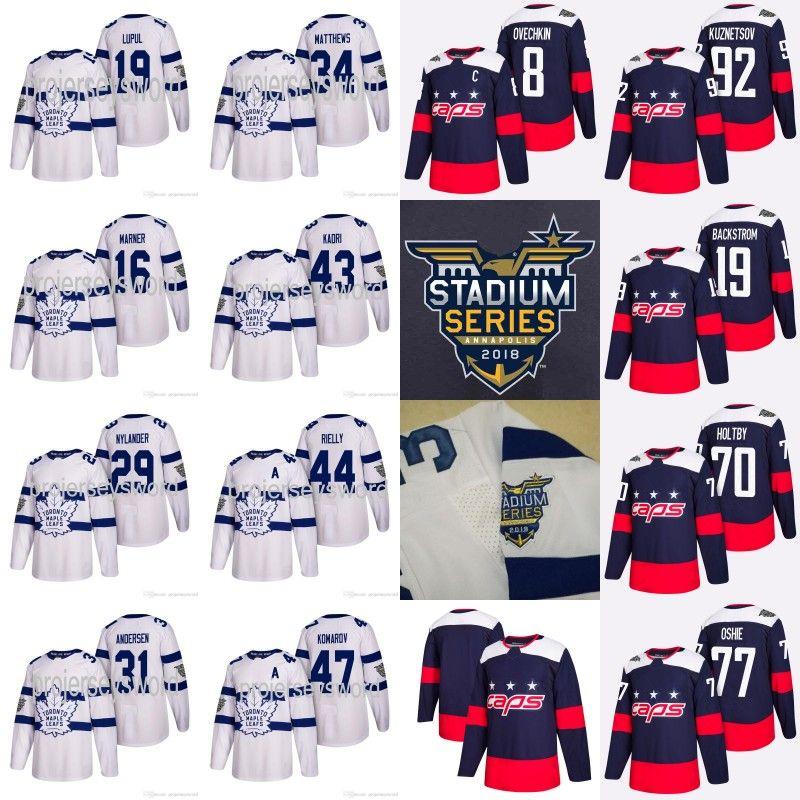 72951b103 Leafs 91 John Tavares Jersey Mitchell Marner William Nylander Capitals Alex  Ovechkin T.J. Oshie 2018 Stadium Series Hockey Jerseys UK 2019 From ...
