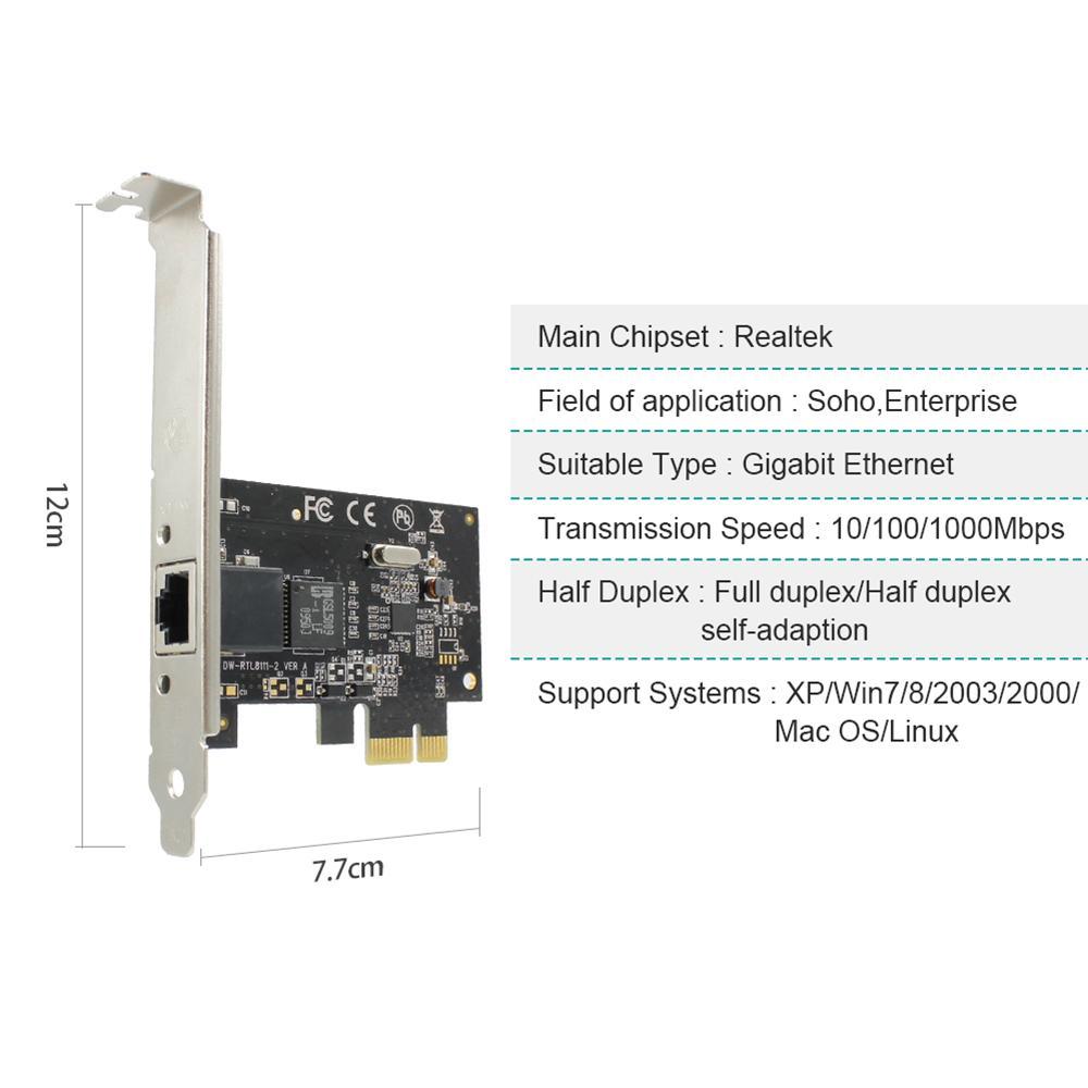 EDUP PCI-е гигабитный адаптер сетевой карты Ethernet 10/100/1000 Мбит/с Высокая скорость PCI-е гигабитный Ethernet сетевой карты сетевой адаптер