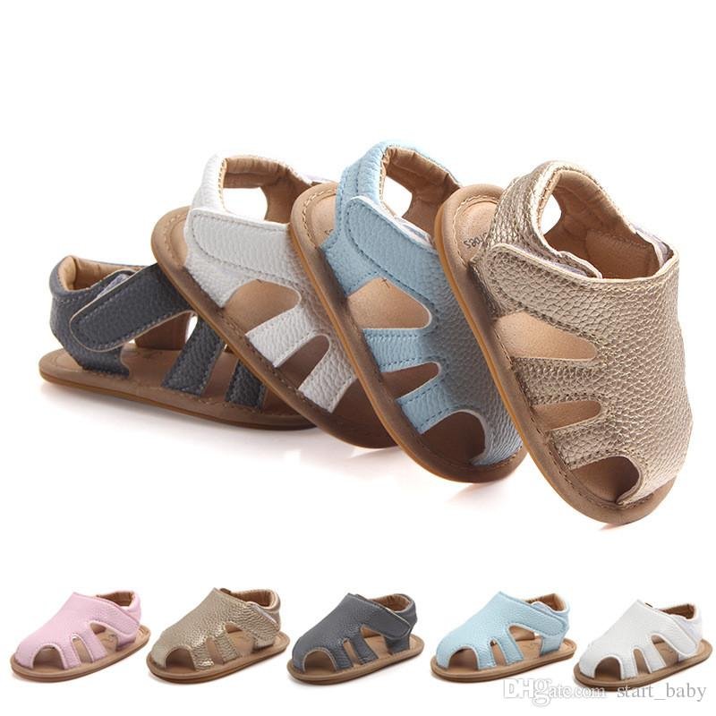 Baby Buckle Sandals Rubber Sole Easy To