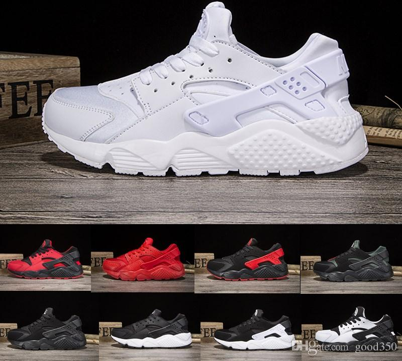 free shipping 4a38b d9e6c 2018 New Air Huarache 1 I one Ultra Reflect Running Shoes For Mens Womens  Leather Mens air Huaraches Sports Trainers running Sneakers 36-45
