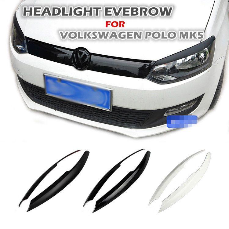 2019 Wholesale Abs Headlight Eyebrows Eyelids Car Trim Sticker For