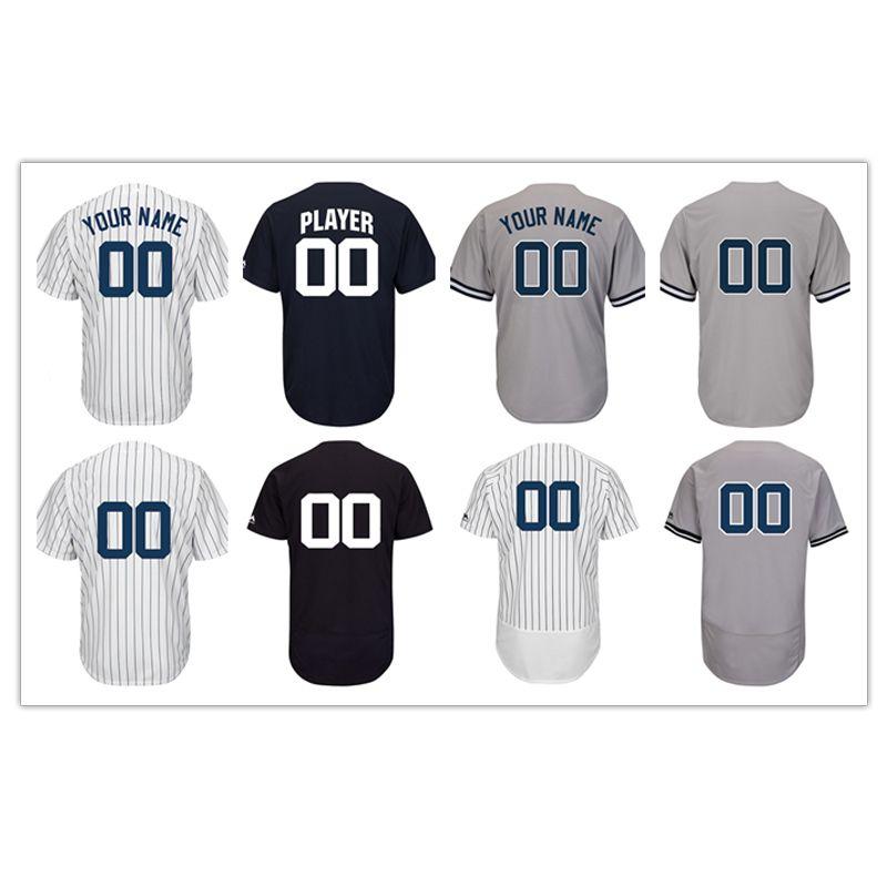 20bff8c86f35d Compre Custom New York Yankees Hombres Mujeres Joven Béisbol De Alta  Calidad Jersey En Blanco Jersey Por Favor
