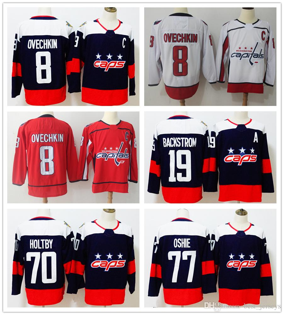 the best attitude c9ee3 e23ad Washington Capitals Jersey 8 Alexander Alex Ovechkin 19 Nicklas Backstrom  70 Braden Holtby 77 T. J. Oshie 2018 Stadium Series Winter Classic