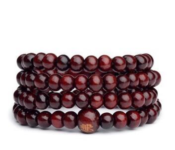 Man Beaded Bracelet 6mm Natural Red Sandalwood Prayer Japa Rosary Mala Tibetan Buddhist Meditation Wood Rosary Beaded Bracelet ns