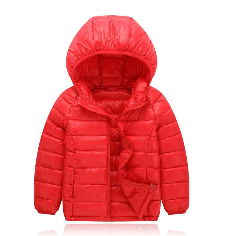 hot sale online 77408 ba353 Bambini Ragazze Ragazzi Piumino bianco Piumino economico Piumini per  bambini Parka tuta sportiva Tuta sportiva Cappotto invernale con cappuccio