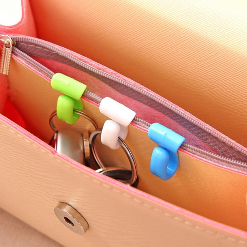 Two Piece Novelty Home Plastic Mini Cute Creative Anti-lost Hook Within The Bag Key Storage Holder Rack Home Storage & Organization