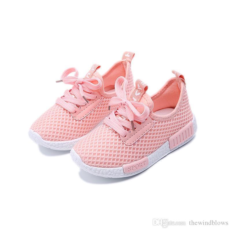 cheap for discount a25b2 53954 New Baby stringate scarpe leggere Scarpe da bambina Scarpe da ginnastica  per bambini Sneakers traspiranti Scarpe da corsa