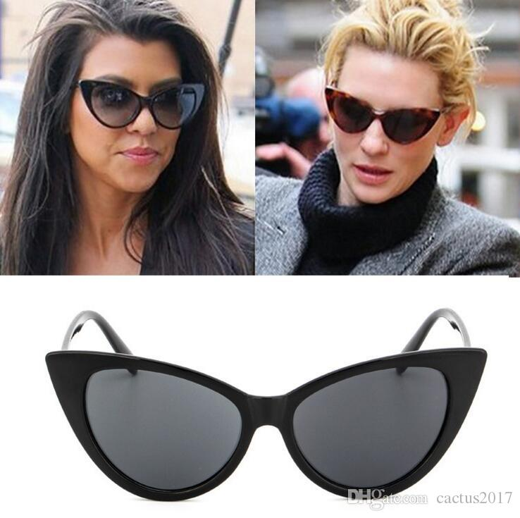 fb598e3d2e Wholesale 2018 Fashion Cat Eye Sunglasses Women Brand Designer Vintage Sun  Glasses Female Ladies Sunglass Oculos De Sol Feminino Eyewear Circle  Sunglasses ...