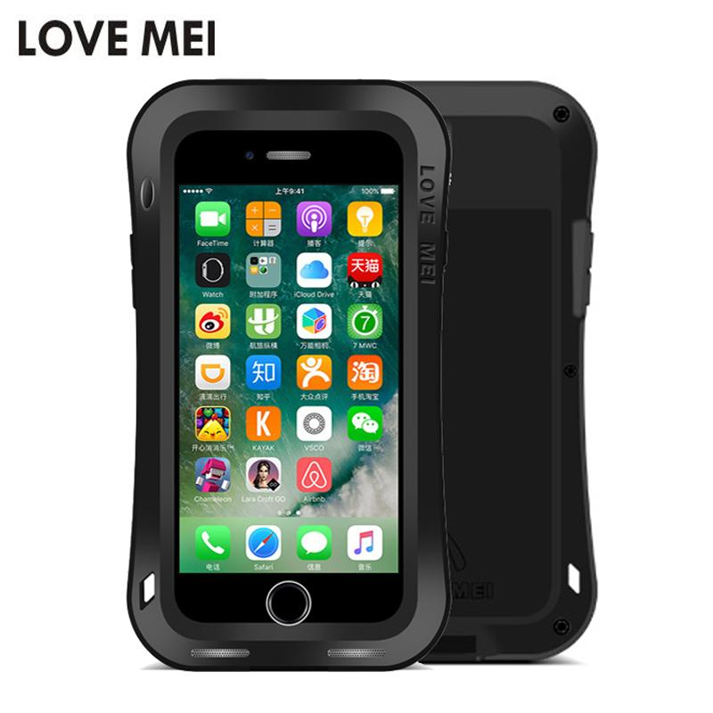 4045ed3cb81 Love Mei Small Waist Armor Case For Iphone 8 8 Plus Metal Aluminum+Tpu  Powerful Shockproof Cover For Iphone 7 7 Plus Case Fundas Fashion Cell  Phone Cases ...