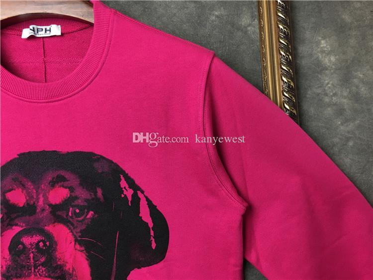 2019 hommes printemps et en automne Sweats à capuche Sports décontractés Sweat à manches longues Tête de chien imprimé Rose Sweat à capuche Designer outwear Top