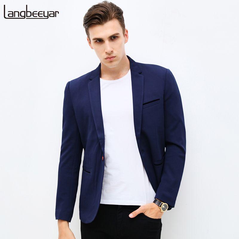 a16d7111481 2019 Wholesale 2017 New Fashion Brand Unique Mens Blazer Men Single Button  Casual Blazer Slim Fit Royal Blue Trend Men Suit Jacket M 5XL From Seein
