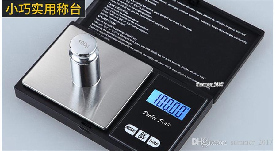 Mini Digital Pocket échelle 0,01 x de Bijoux Or Argent Monnaie Pesez balance électronique numérique LCD Bijoux Échelle d'équilibre