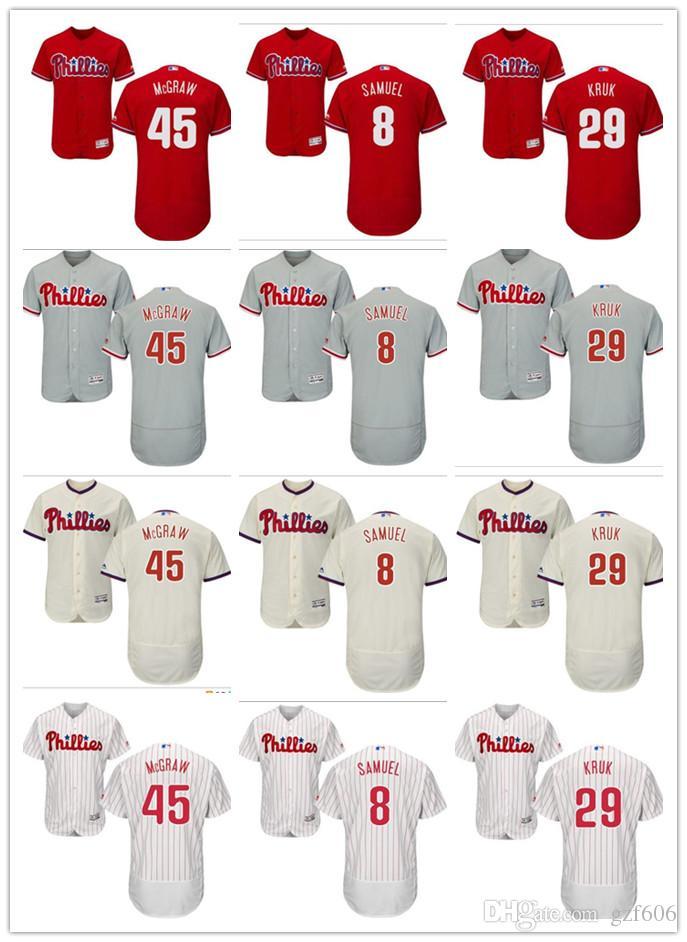 2018 Custom Men S Women Youth Philadelphia Phillies Jersey  8 Juan Samuel  29 John Kruk 45 Tug McGraw Red Grey White Baseball Jerseys From Gzf606 9d57ef298a1