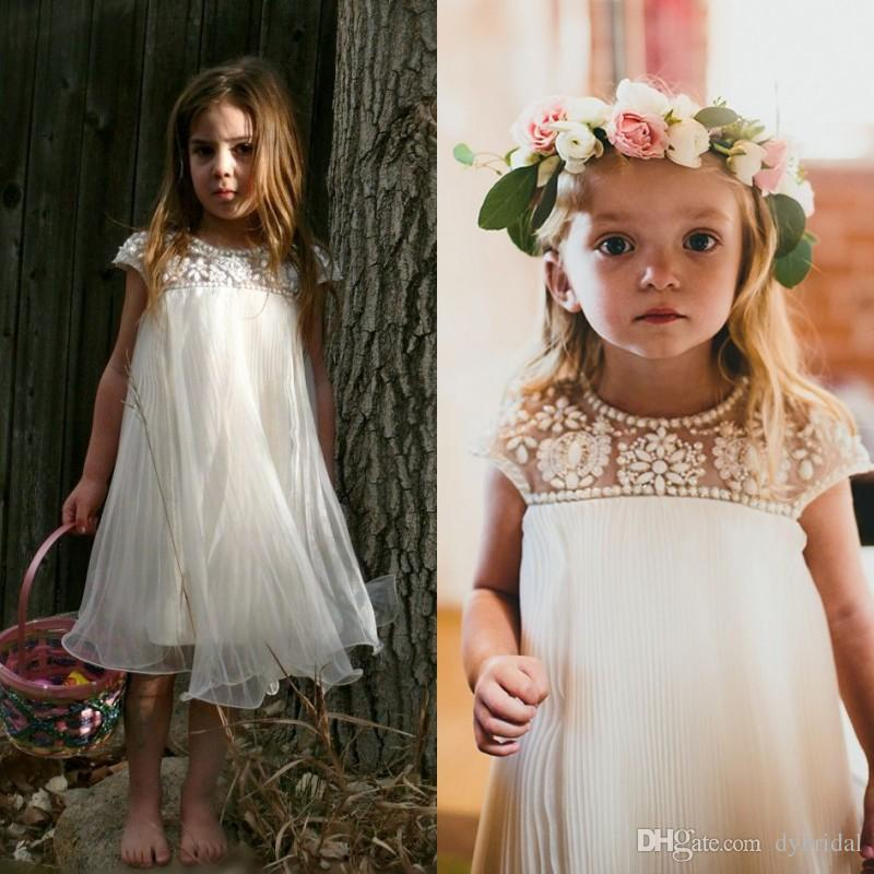 Flower Girl Dresses For Wedding 2018 Cheap Plus Size Girls Dress