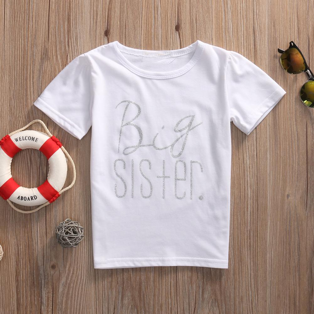 Große Schwester und Bruder Familie passende Outfits Säugling Baby Kleiner Bruder Junge Strampler Große Schwester T-Shirt Baumwolle Kleidung Outfits