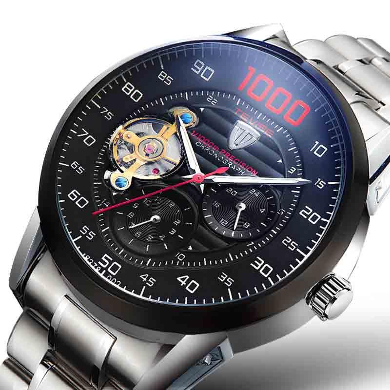 17b26b3e6fe Compre TEVISE Wengle Novo Relógio Mecânico Automático Tourbillon Através De  Fundo À Prova D  água Seiko Vestido De Luxo Mecânico Homens Relógio De  Wengle