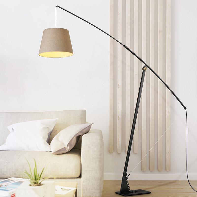 Modern Floor Lamps Post Standing Light Adjustable Long Arm Color Floor  Lights Bedroom Living Room Deco Standing Lamps Luminaire