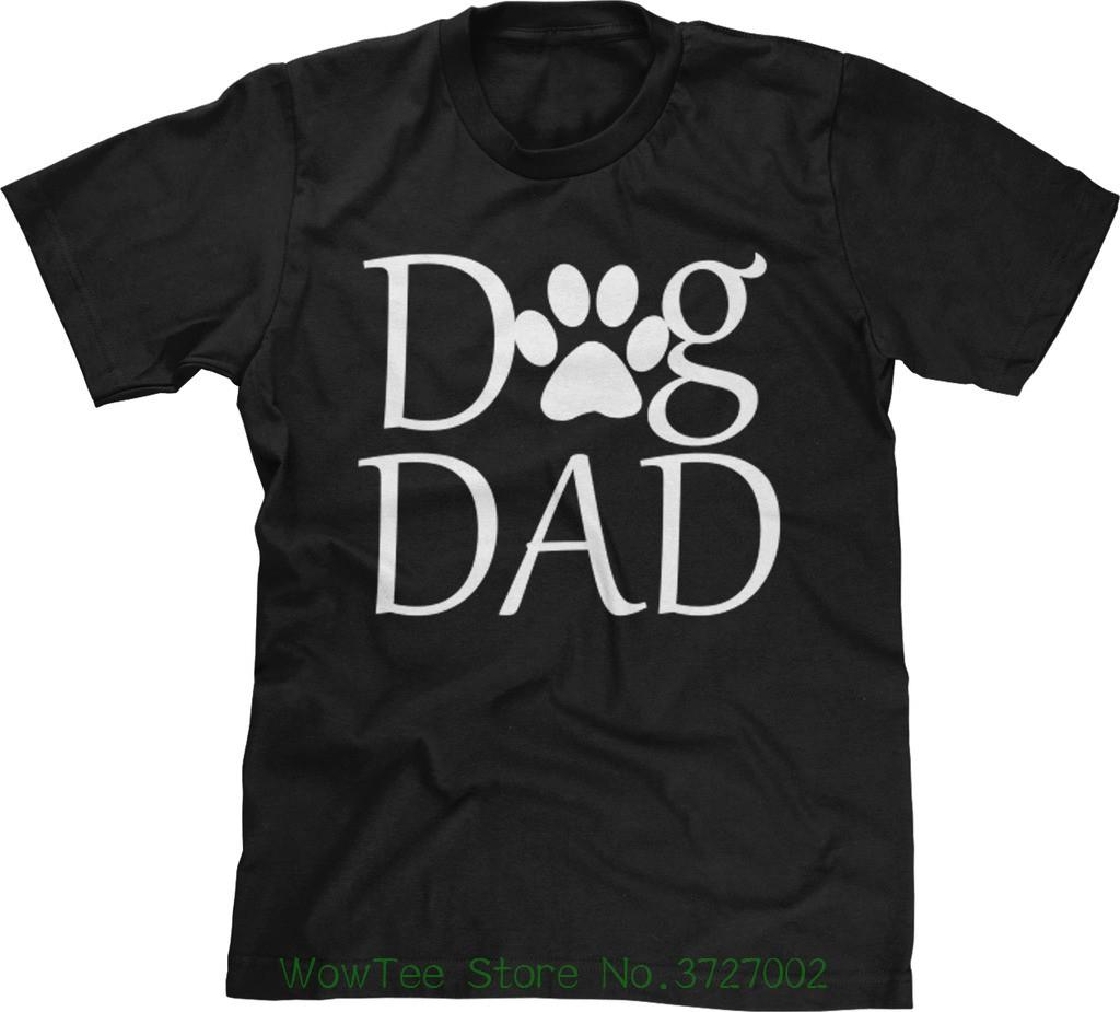 Dog Dad Parent Fur Baby Fathers Day Birthday Present Christmas Gift Mens Tee Fashion Men T Shirts Round Neck Cheap For Sale Online One Only