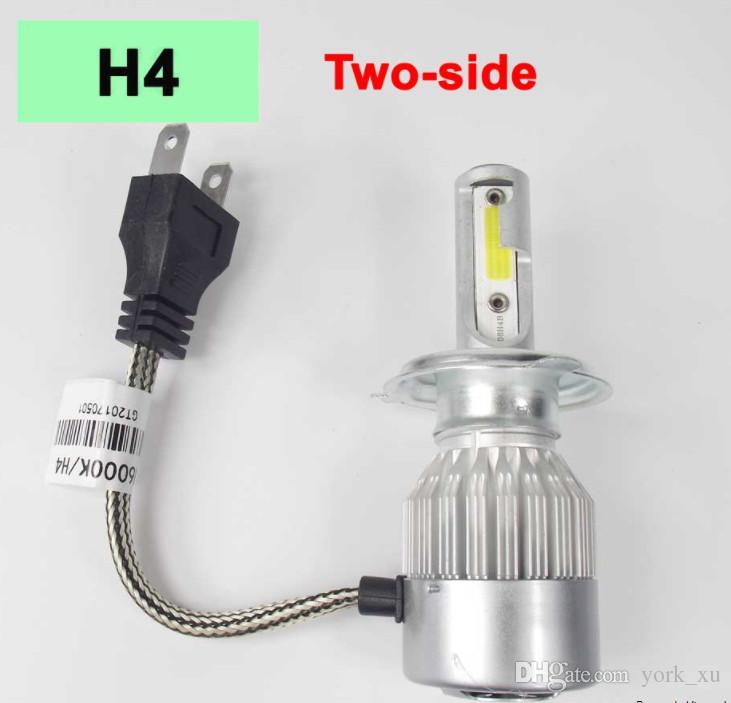 Lampe LED 72W COB H7 H1 H4 H3 H11 9005 9006 9007 9012 880 C6 Ampoule Lumière Phare Lumière Phares 6000K ATP032