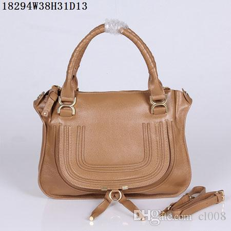 Women Leather shoulder bags soft real leather 38cm Medium casual bags Light multi-functional double leather handles Round shape