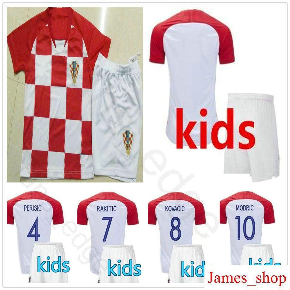 2018 Kids Soccer Jersey Modric Perisic Rakitic Mandzukic Srna Kovacic  Customize Men Women Youth 2018 World Cup Hrvatska Football Shirt From  James shop 8cc0ec20a