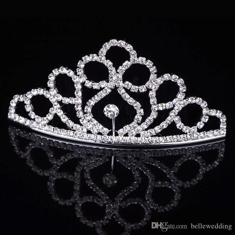 Girls Tiaras Crowns With Rhinestones Jewelry Tiaras For Birthday Party Performance Pageant Crystal Wedding Headpieces Accessories #BW-T062