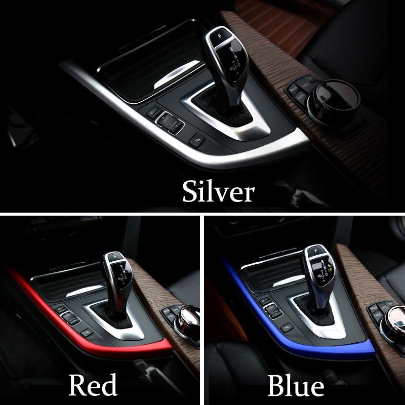 Araba Iç Merkezi Konsol Vites değiştirme paneli dekoratif şerit kapağı trim sticker Oto Aksesuarları BMW 3 4 Serisi 3GT F30 F31 F32 F34 F36
