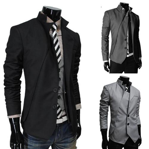 In the summer of 2016 men Metrosexual small Korean collar asymmetrical design suit male personality small suit jacket