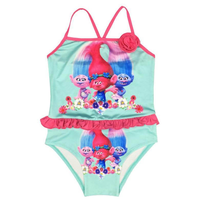 Prinzessin Trolls Kleidung Kinder Schwimmen Baby Mädchen Badeanzug Kinder Sommer Mädchen Kleid Badeanzug Schwimmen tragen Kinder schwimmen tragen