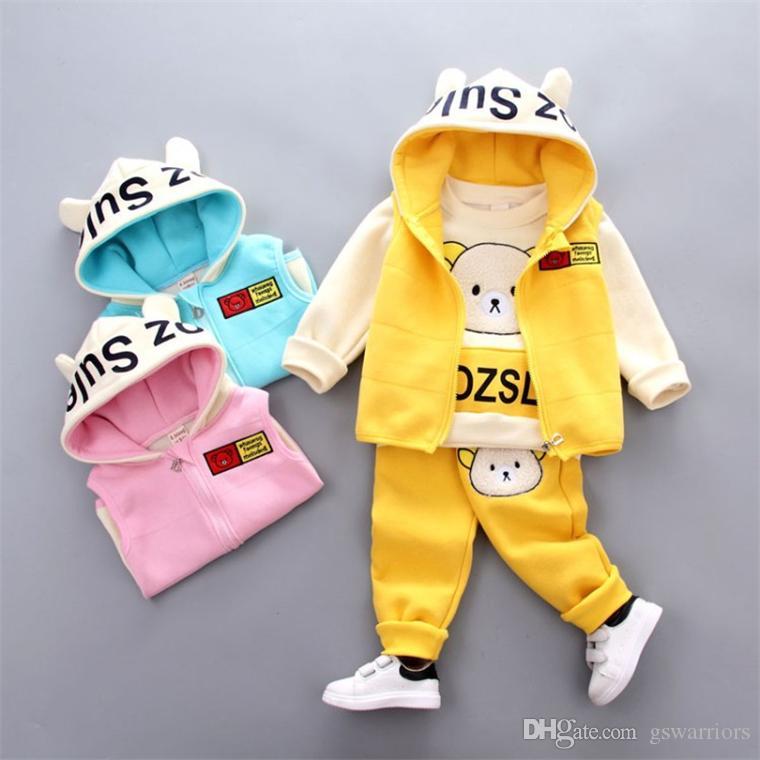 Acquista maglione tre orsi da bambina in autunno giacca da cartone