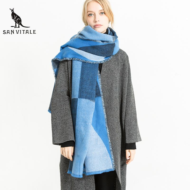 1a8e80eefe396 Scarves Women Scarf Winter Warm Gift Poncho Christmas Clothes Scarfs Small  Square Silk 2018 New High Quality Designer Casual Online with $33.21/Piece  on ...