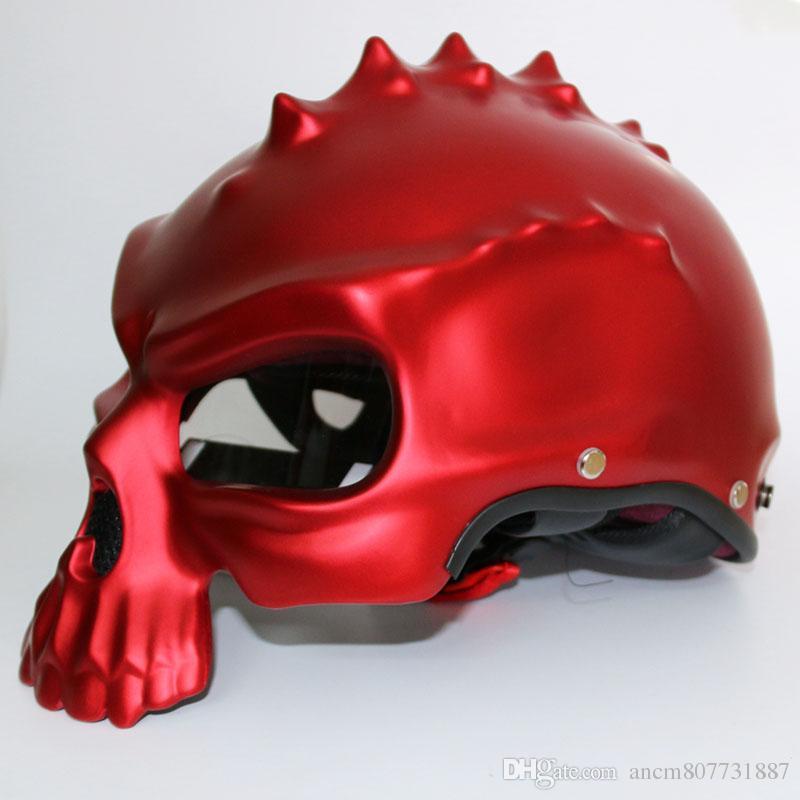 Masei 489 Dual Use Skull Motorcycle Helmet Capacete Casco Novelty Retro Casque Motorbike Half Face Helmet