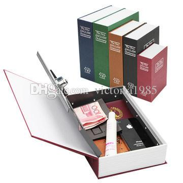 24*15.5*5.5cm Storage Safe Box Dictionary Book Bank Money Cash Jewellery Hidden Secret Security Locker With Key Lock
