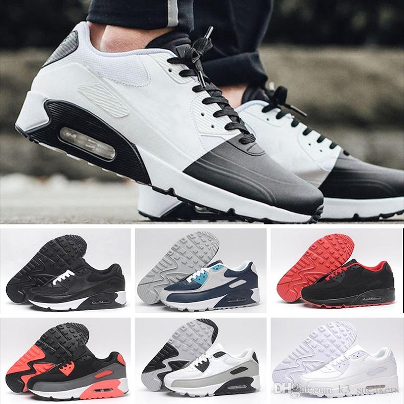 db793929c8f 2018 brand classic 90 Mens shoes fashion luxury designer Women Running  Trainer Air Cushion Surface Breathable Sports basketball sneakers