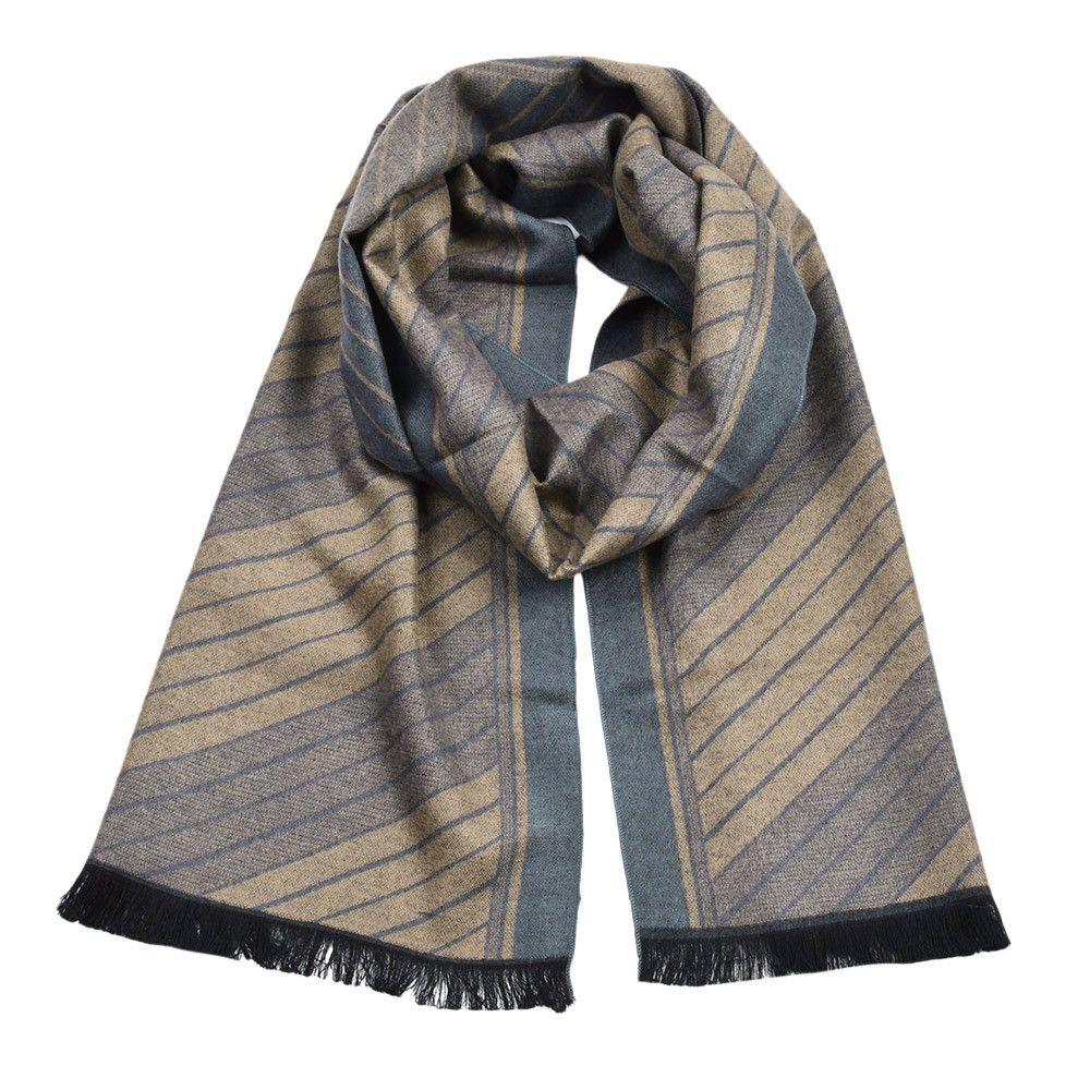 2018 Hot Sale Fashion Winter Men Classic Shawl Fringe Stripe Tassel