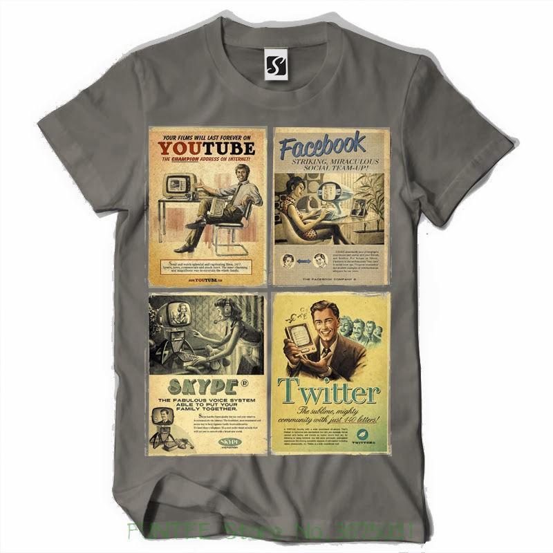 1edd899f6b06f Summer Style Hip Hop Men T-shirt Tops Exclusive And Unique Men's T-shirt -  Social Vintage Design ( Sb140 )