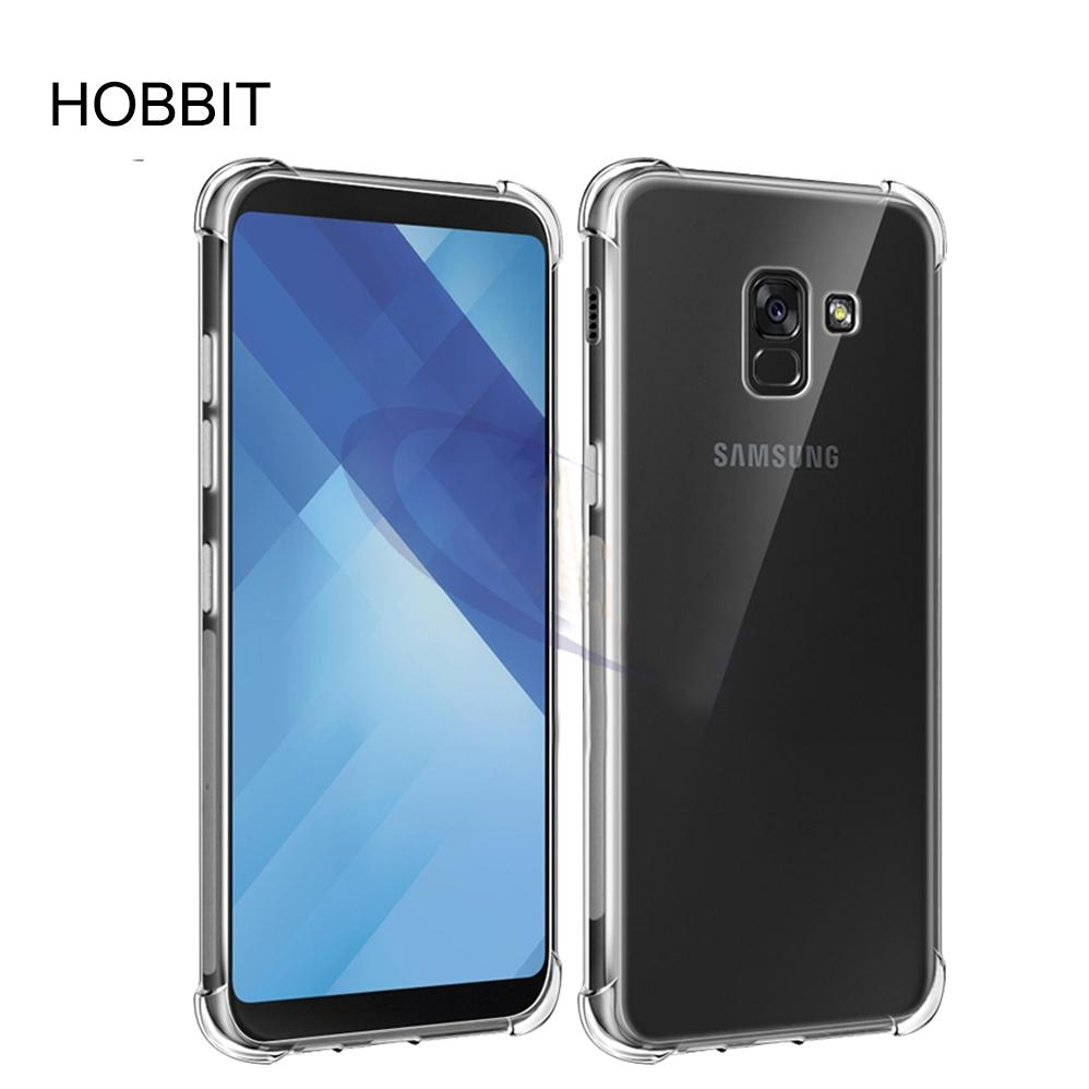 sports shoes 507fb 1fb33 For Samsung Galaxy A5 2018 A530F Clear Case Soft TPU Case Crystal  Transparent Slim Anti Slip Case Back Cover Shock-proof