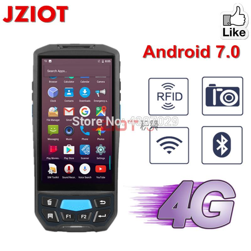 PDA Android 7 0 Handheld Terminal Barcode Scanner Wireless NFC UHF RFID 1D  2D Bluetooth WIFI Laser Barcode Reader