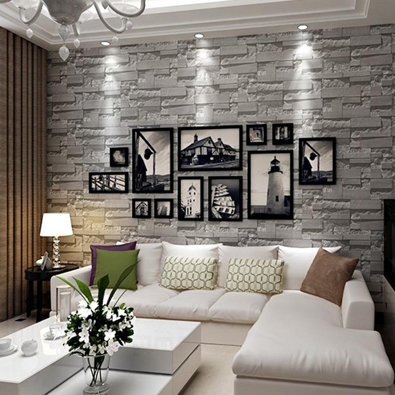 3D Brick Stone Wallpaper Textured Roll Wall Background For Home Art Decoration Paper Sticker 3d