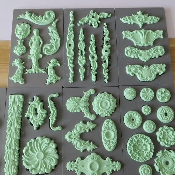 fondant silicone mold cake decoration mold sugar craft tools clay DIY handmade food grade vintage art decor molds PRZY