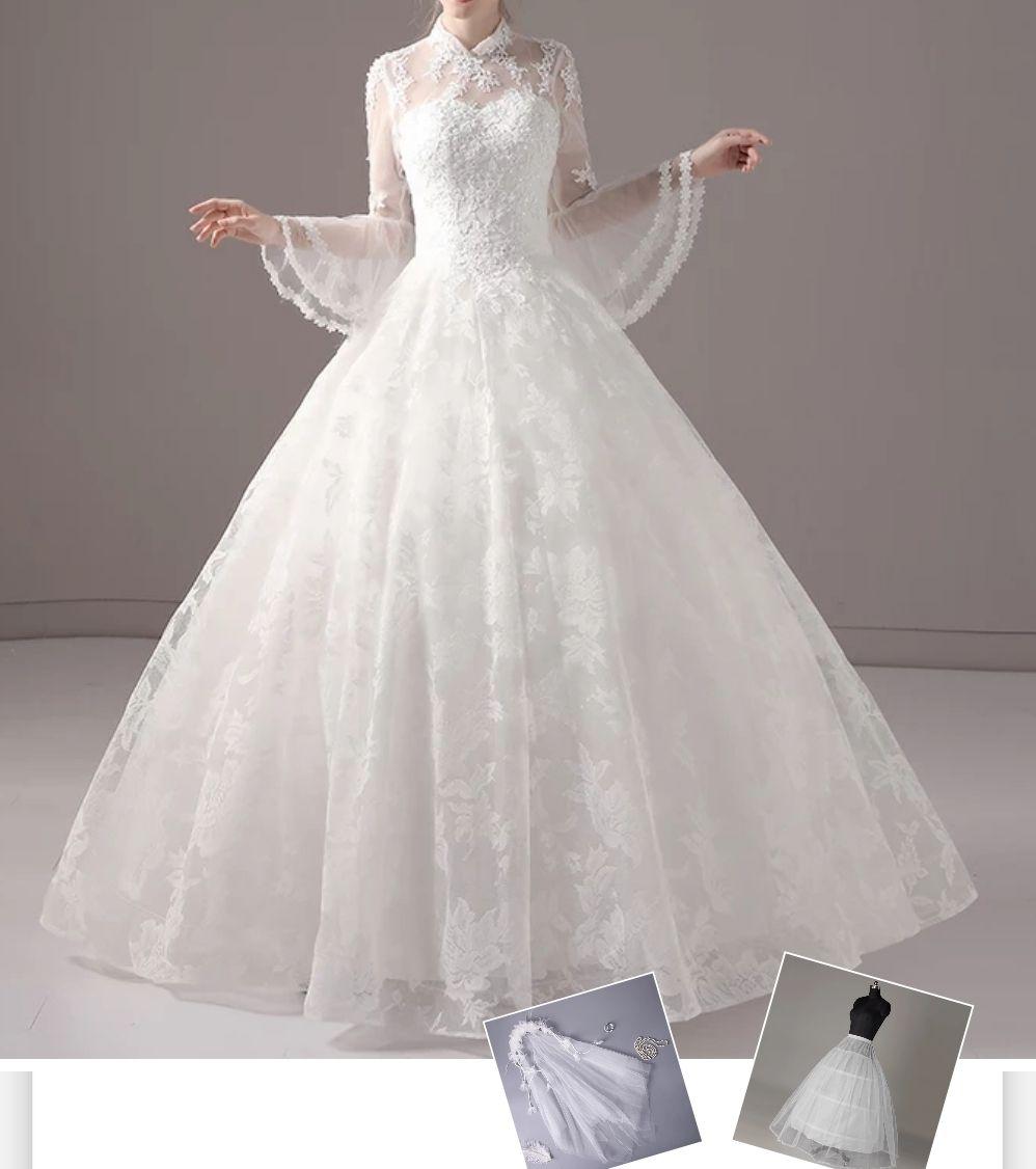 Dress+ Underskirt+Veil DE Plus Size Custom Made Lolita Dress Quality ...