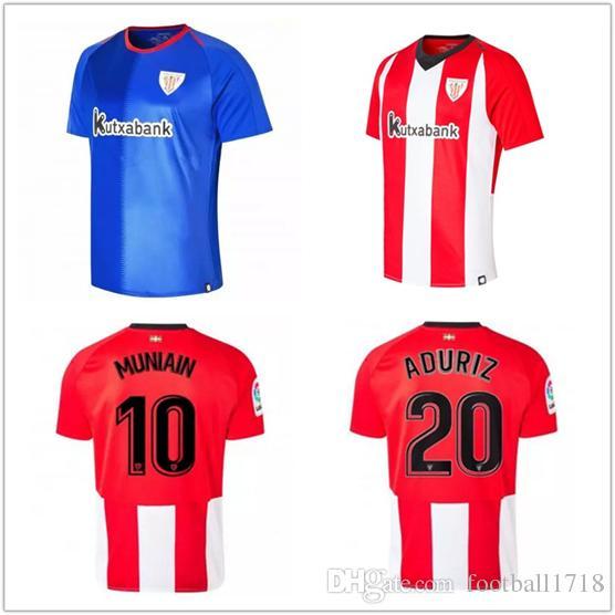 Compre 18 19 Athletic Bilbao Club Camisolas De Futebol Em Casa 2018 2019  Aduriz Williams Sola Muniain Camisas De Futebol Uniformes De Futebol De ... 48b52012b6ce5