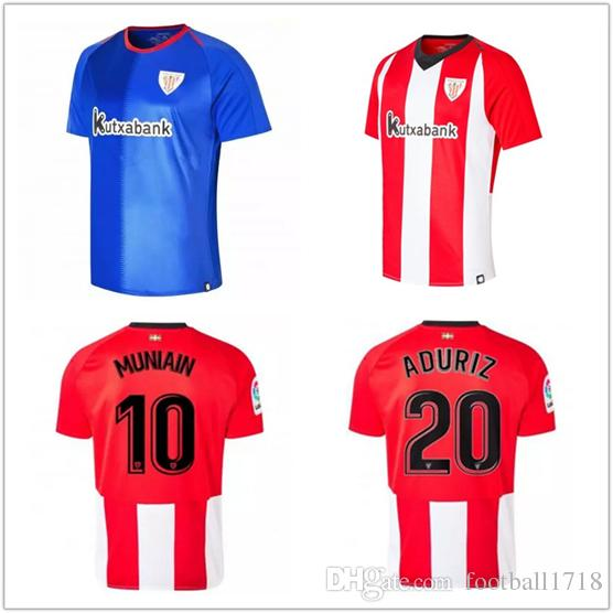 18 19 Athletic Bilbao Club Home Camisetas De Fútbol 2018 2019 Aduriz  Williams Sola Muniain Camisetas De Fútbol Uniforme De Fútbol Por  Football1718 f24ea0ec78cd9