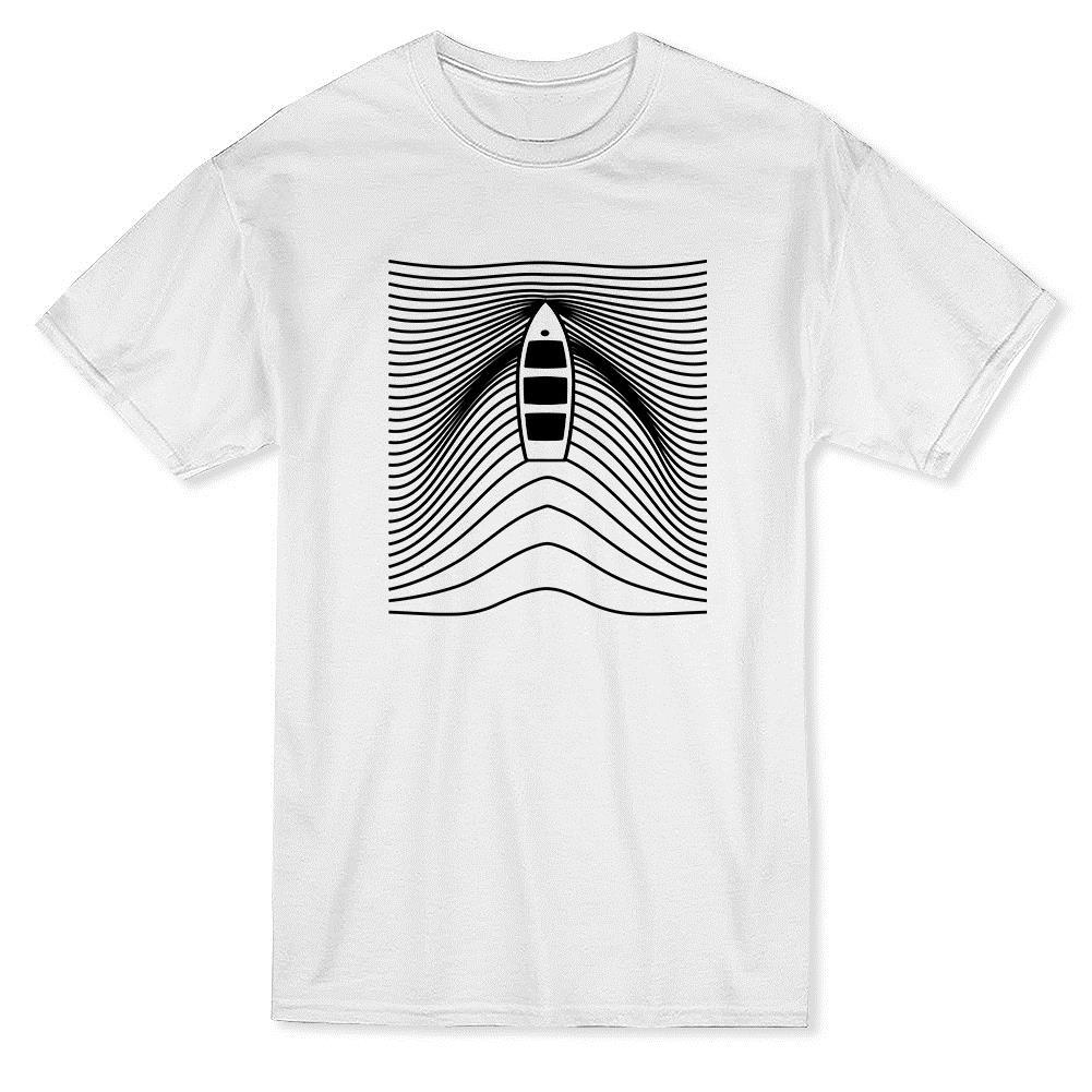 86cbb89c5 Dingy Boat Waves Pattern Graphic Design Men's T-shirt Cool T-Shirts Designs  Best Selling Men Sale 100 % Cotton T Shirt TOP TEE