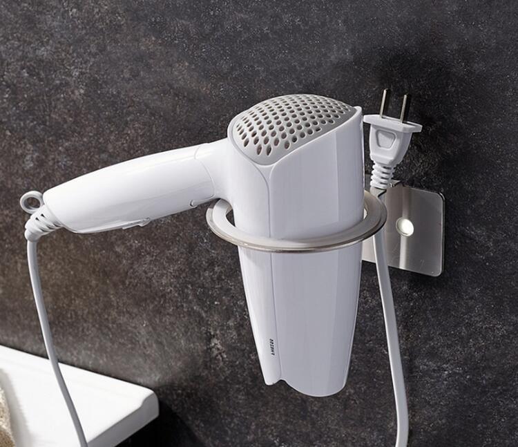 Self Adhesive Hair Dryer Holder Stainless Steel Bathroom Shelf Storage  Hairdryer Holder For Hairdryer High Quality Free Ship Self Adhesive Hair  Dryer Shelf ...
