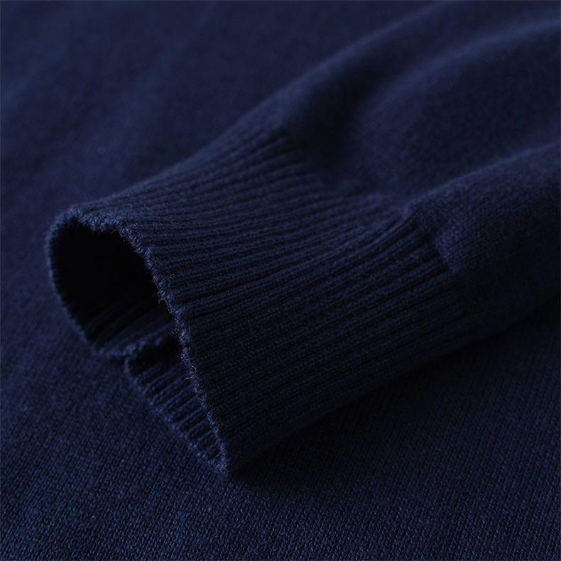 2018 Autunno 5XL O Neck Pullover Uomo Maglione MuLS Marca 100% Cotone lavorato a maglia Maglioni Uomo Maglieria Primavera Inverno Nuova Marina
