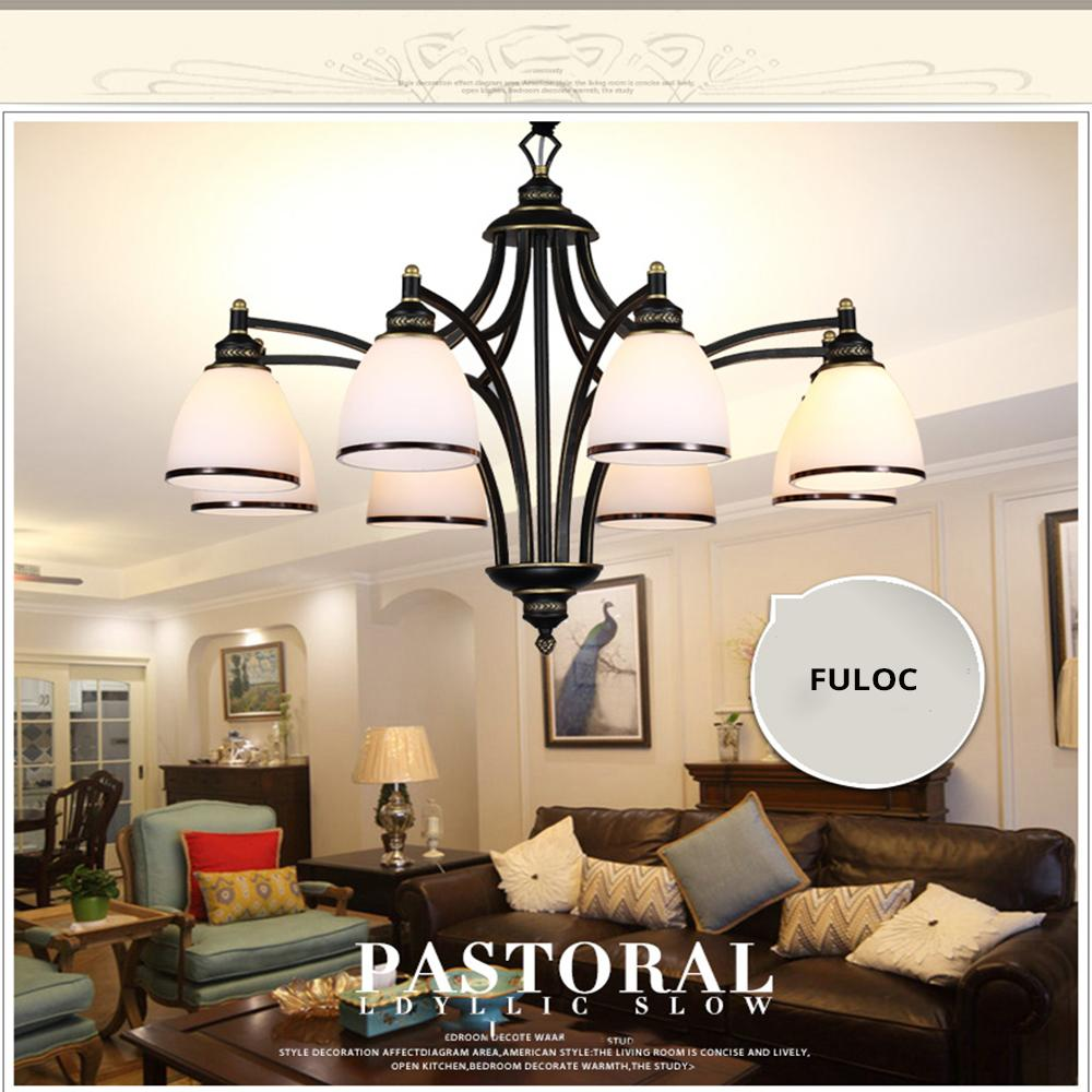 Vintage Country Led Iron Chandeliers Creative American Europe