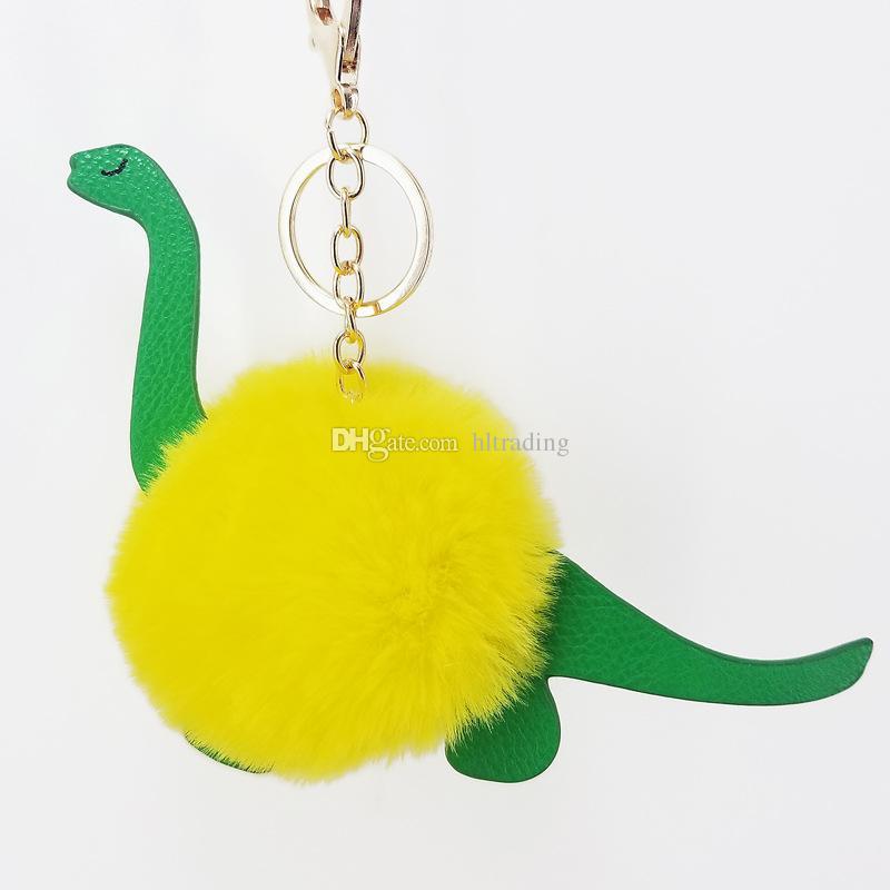 Единорог краб динозавр плюшевые игрушки брелок рюкзак кулон мультфильм помпон брелок дети ювелирные изделия C4502
