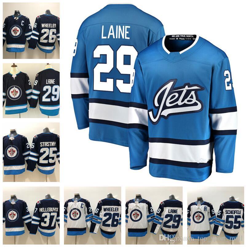 Winnipeg Jets 26 Blake Wheeler Jersey 29 Patrik Laine 33 Dustin Byfuglien  55 Mark Scheifele 25 Paul Stastny Connor 37 Hellebuyck Hockey Blue UK 2019  From ... 5dae7d54b487