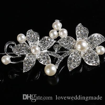 Accessoires De Cheveux De Mariée Pas Cher De Mariage De Mode Avec Des Couronnes De Mariée Perles Et Diadèmes Bijoux De Tête Strass Mariée Diadème